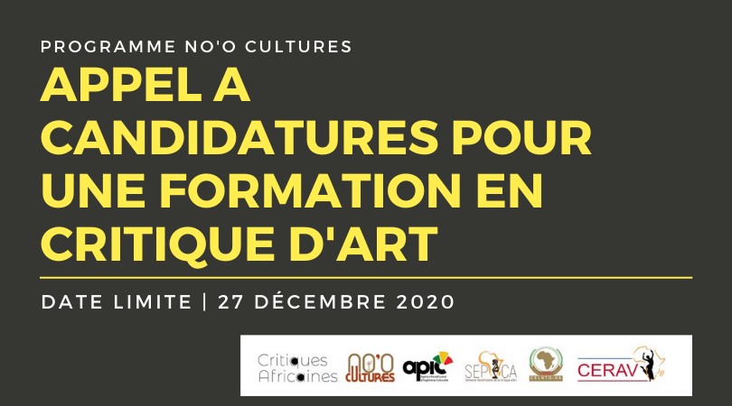 Formation stratégique en critique d'art, 2è session : appel à candidatures